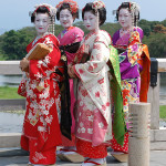 Young women dressed as maiko, Arashiyama, Kyoto, 2007.