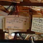 Plaques with wishes, Meiji Shrine, Kyoto, 2007.
