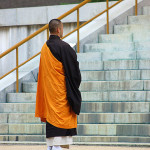 Monk at a temple in Koya-san, 2007.